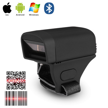 Finger Ring 1D barcode QR code scanner Bluetooth