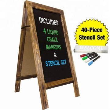 "Large Sturdy Handcrafted 40"" x 20"" Wooden A-Frame Chalkboard Display Stand"