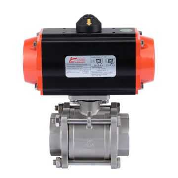 Stainless steel  Pneumatic Thread Ball Valve