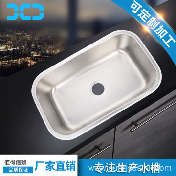 Stainless steel kitchen sink with clips