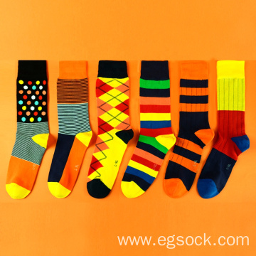 Cotton dress socks for men and women-C6