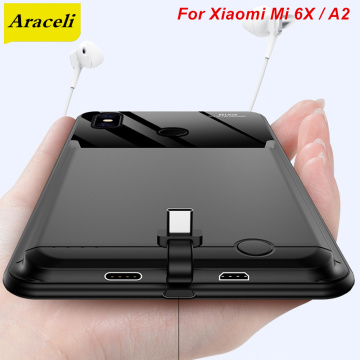 Araceli 10000 Mah For Xiaomi Mi 6X A2 Battery Case Smart Phone Stand Battery Cover Power Bank For Xiaomi Mi A2 Charger Case