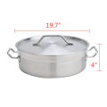 21Quart Heavy Duty Stainless Steel Braiser With Lid