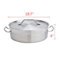 21QT Heavy Duty Stainless Steel Braiser With Lid
