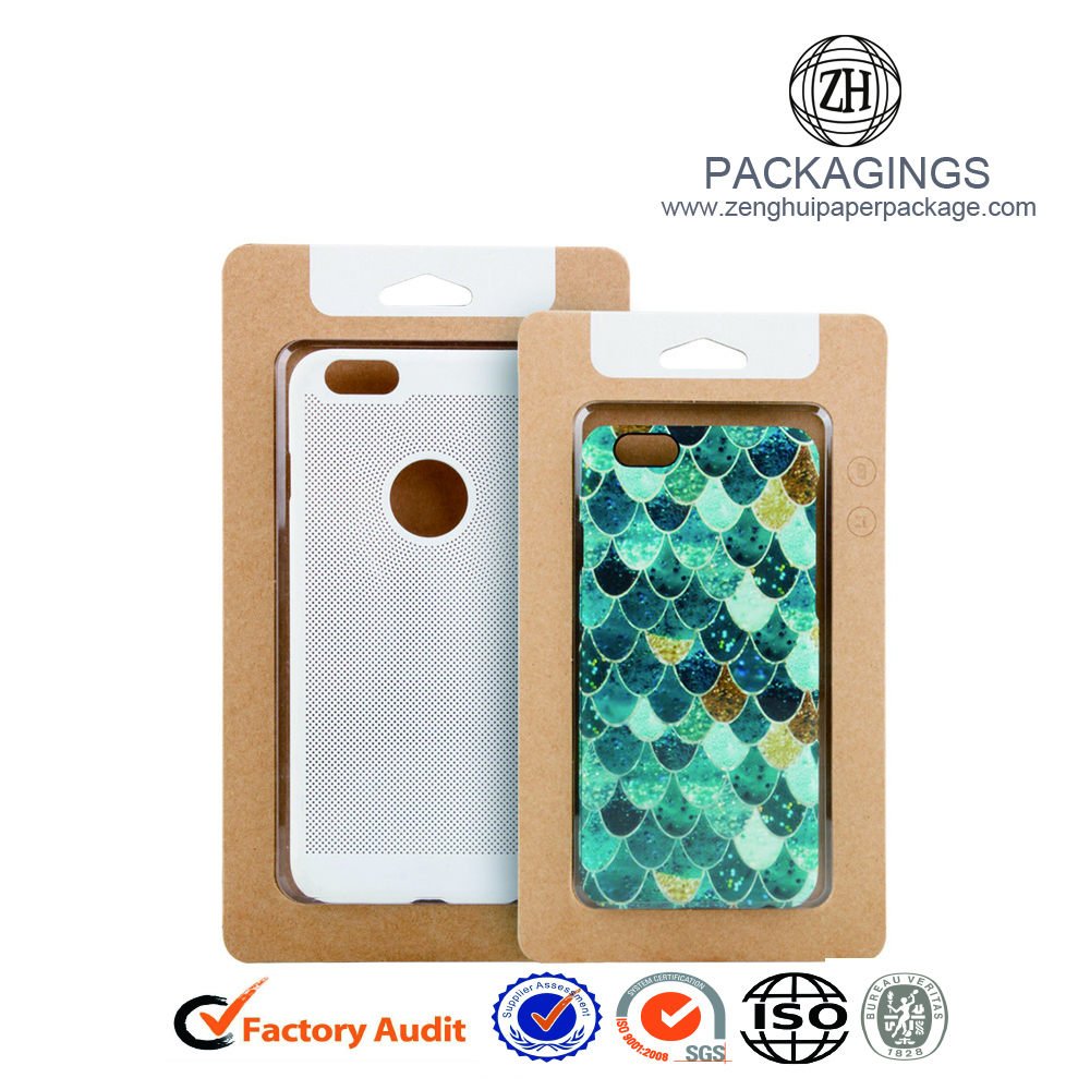 Cheap PVC window cell phone case packaging box