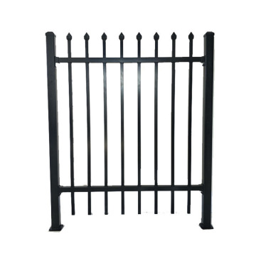 Prefab Wrought Iron Steel Tubular Picket Fence Panels
