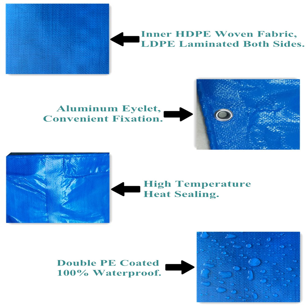 Waterproof Lamination Tarpaulin with Aluminium Eyelet
