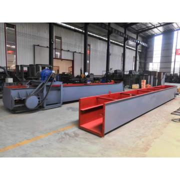 Wood chip scraper chain conveyor