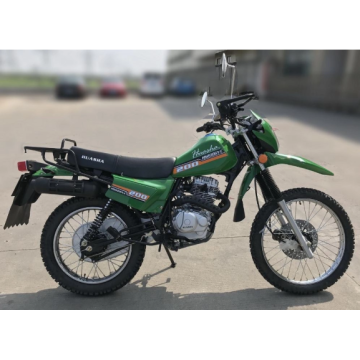 High-speed off-road gas motorcycle with rearview mirror
