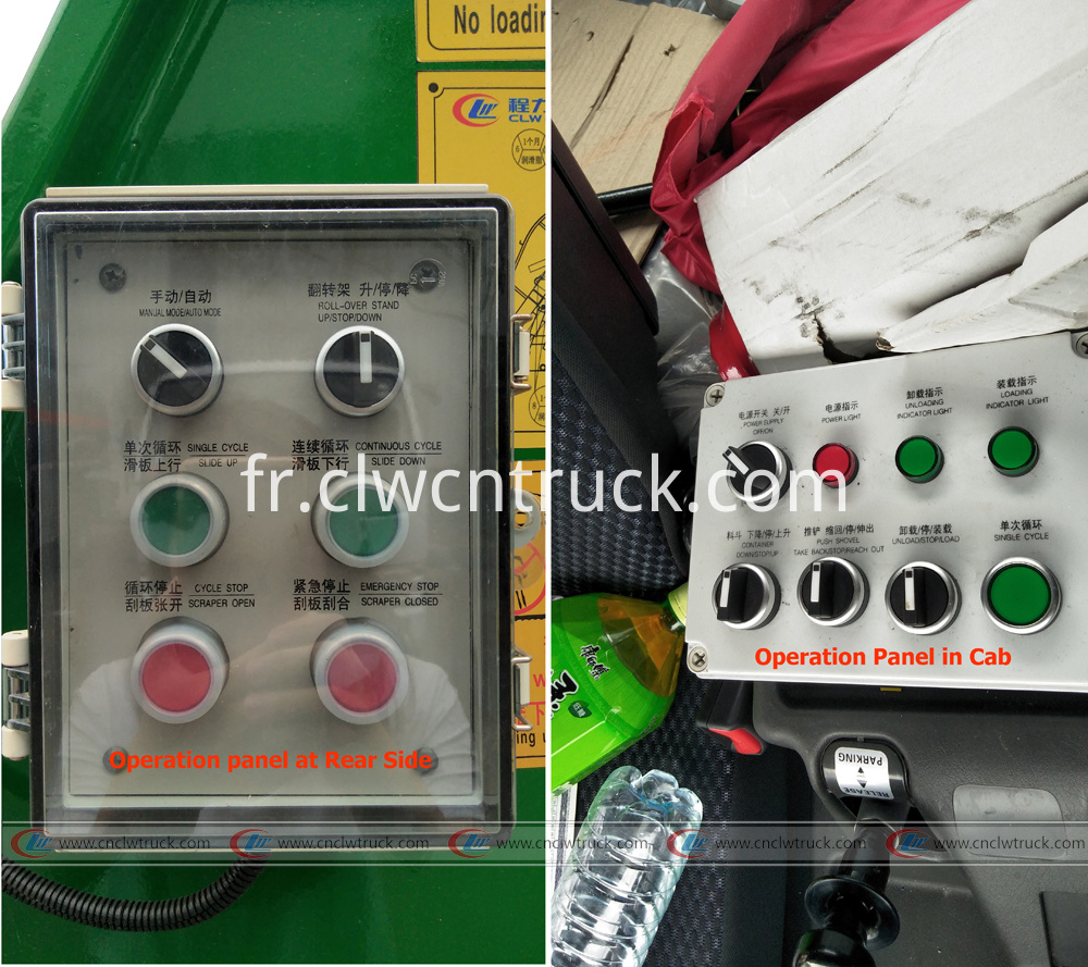 isuzu garbage truck operation panel