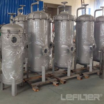 Stainless steel large-flow liquid security filter housing
