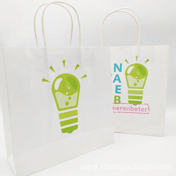 paper bag shopping packaging kraft bag with handle