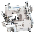 Cylinder Bed Interlock Sewing Machine with Right Side Cutter and Tension Roller