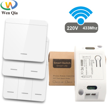 433Mhz Smart Light Switch LED Push Button Switch Universal Wireless Remote Control AC90~250V 10A 1CH Relay controller for Lamp
