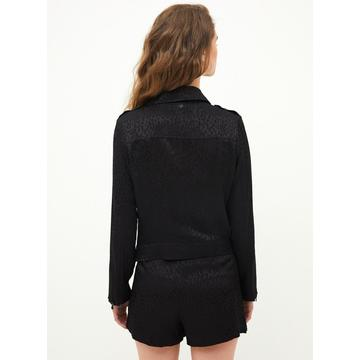 Ladies black casual fashion suit jacket