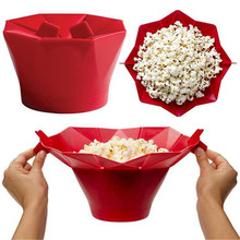 Microwave Silicone Popcorn Bowl Kitchen Easy Tools Magic Household Popcorn Maker Container Healthy Cooking Tools