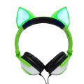 Foldable Fox Ear led light Headsets for kids