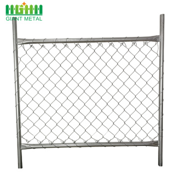 Used Galvanized Temporary Chain Link Fence