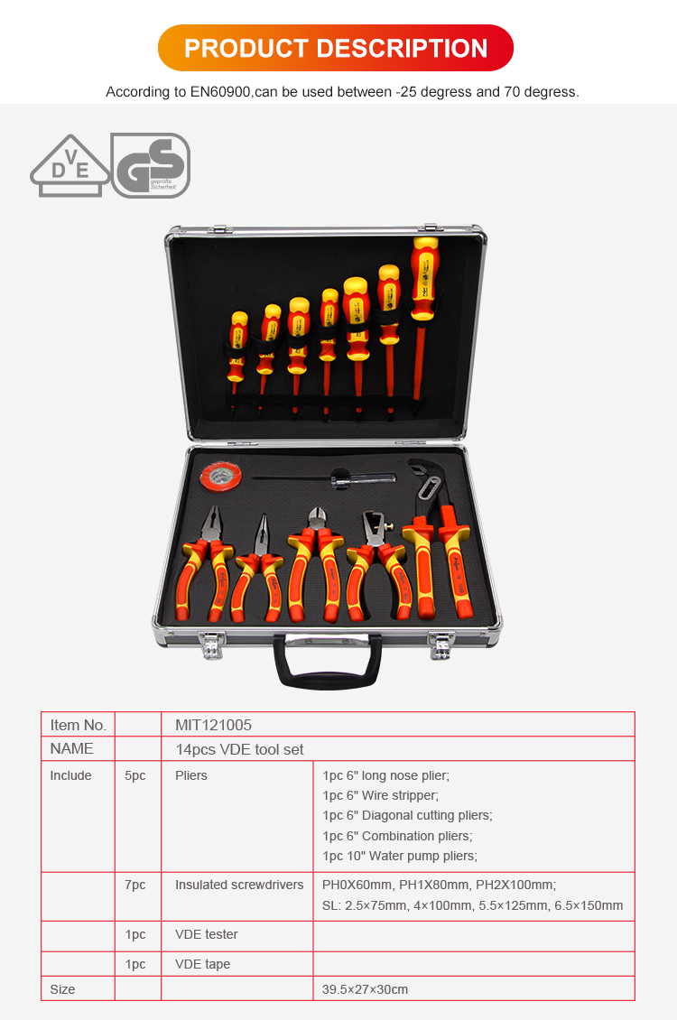 14pcs plier and screwdriver set