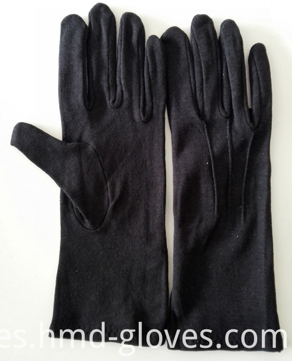 Formal black glove cotton