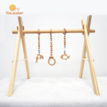 Neutral Koala Bear Wooden Baby Play Gym