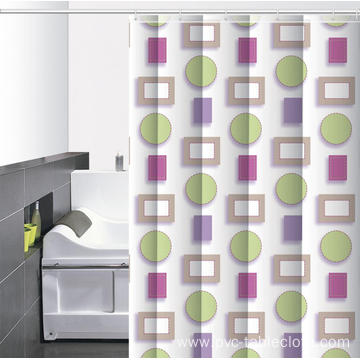 Waterproof Bathroom printed Shower Curtain 84 Inches