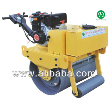 Single Drum Gasoline manual vibrating roller compactor,pavement roller