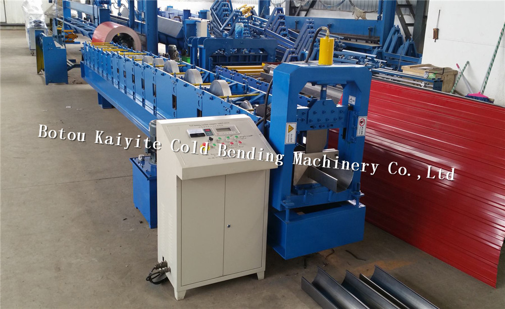 aluminium roofing sheet gutter machine