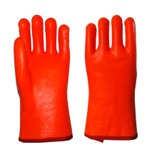 Fluorescent PVC gloves 35cm