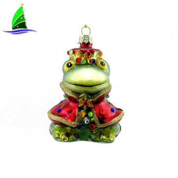 Decoration Christmas Hanging Glass Frog Queen