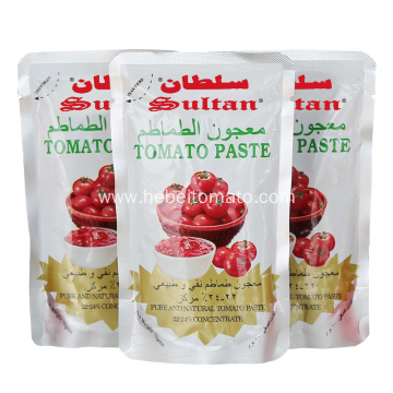 small sachet package tomato paste
