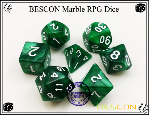 BESCON Marble RPG Dice Set-7