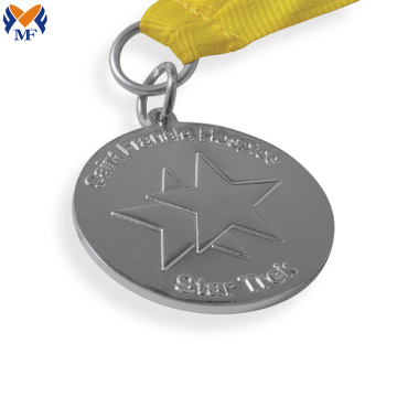 Custom star award medals and ribbons