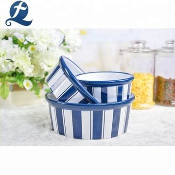 Wholesale Factory Food Container Ceramic Pet Dog Bowl