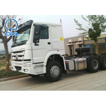 White color Sinotruk 371hp tractor truck