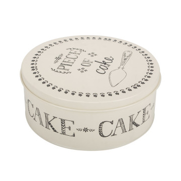 Tin Round Cake Cookie Can Box