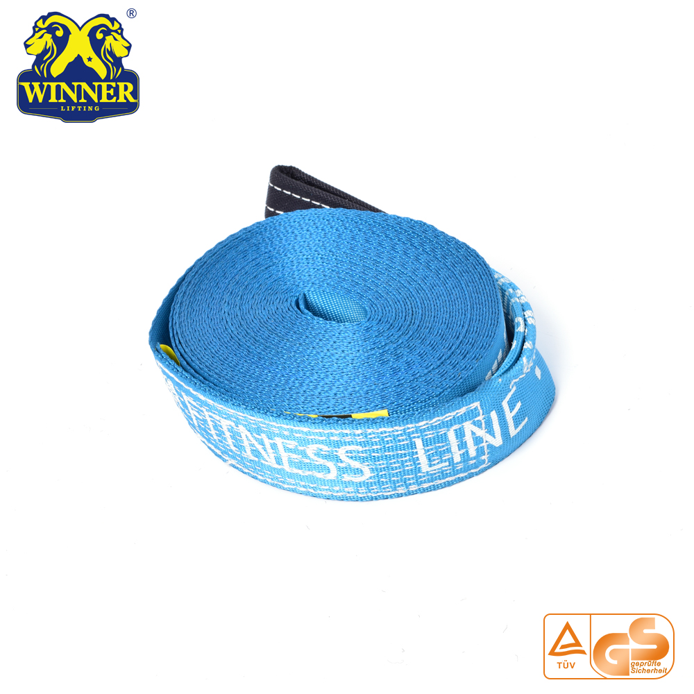 Blue Customized Polyester Slackline