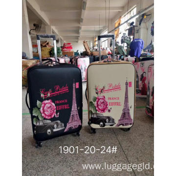 Cartoon leather luggage sets wholesale