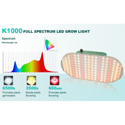 Aglex 100w Small Quantum Board LED Grow Lights
