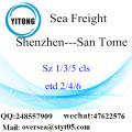 Shenzhen Port LCL Consolidation To San Tome