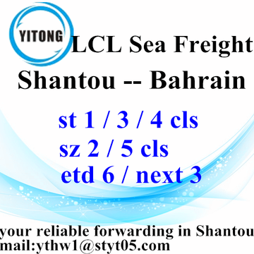LCL Shantou Freight Shipping Services to Bahrain