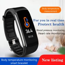 2020 NEW Sport Watch Blood Pressure Heart Rate Sleep Exercise Pedometer Bluetooth Smart Bracelet C6T Body Temperature Monitoring