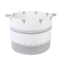 New Design Foldable Braided Cotton Basket Bin Hamper Factory Wholesale