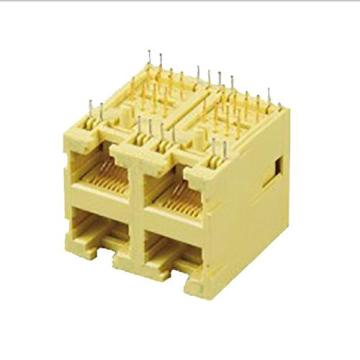 RJ45 Jack Side Entry Full Plastic 2x2P
