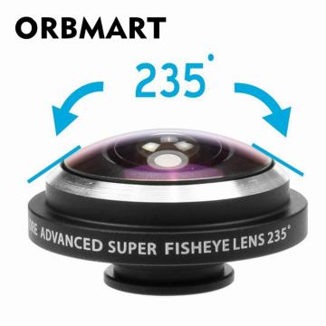 ORBMART Universal Clip 235 Degree Super Fish Eye Camera Fisheye Lens For Apple iPhone Samsung Xiaomi Huawei Mobile Phone Lenses