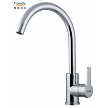 Stainless tube hot and cold water mixer taps