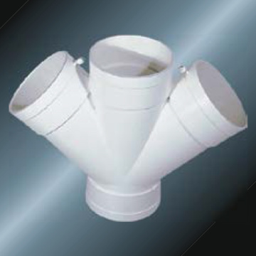Din Drainage Upvc Y-cross Grey Color