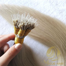 Micro nano ring human hair extensions