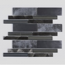 Theme KTV Interior Black Glass Mosaic Ceramic Tiles