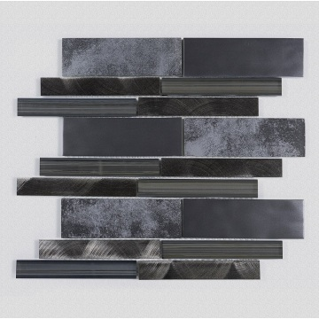 Luxury glass art mosaic with black texture
